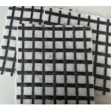 Geomalla de fibra de vidrio con geotextil no tejido