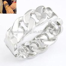 Bracelete torcido da pulseira da pulseira da liga de prata do hotsale da jóia por atacado