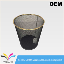 Colorful embossing car bathroom office use metal mesh trash cans