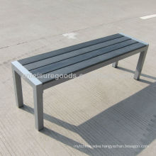 Plastic wood outdoor bench