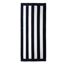 Rectangle bain plage serviettes de voyage noir rayé blanc