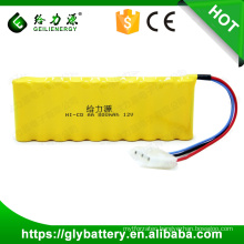 Geilienergy Rechargeable 800 mAh Small 12 Volt Battery NI-CD AA Packs