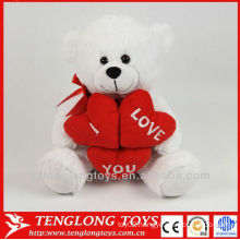customized stuffed plush teddy bear with red heart
