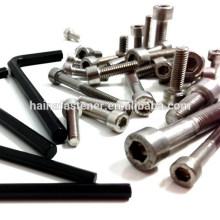 Chave de parafuso preta allen, chave de parafuso allen de aço inoxidável