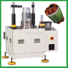 Compressor motor stator coil inserting machine