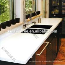 Parte superior branca comercial da cozinha de quartzo / bancadas de quartzo para cozinhas