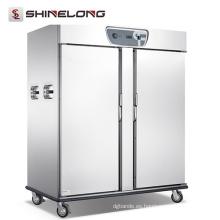 Hotel Banquet Equipment Gran calentador de alimentos de acero inoxidable Vertical Heated Holding Cabinet con 2 puertas