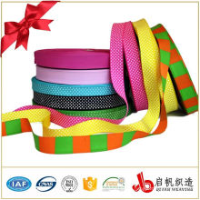 Wholesale double face decorative custom printed polyester satin grosgrain ribbon tape