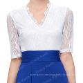 GK Sexy Occident Women's Half Sleeve Lace Splicing High Split Long Dress CL009717-2