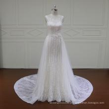 Vestidos de noiva de renda francesa com uma parte inferior das costas