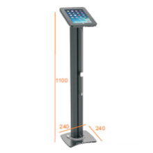 iPad & Tablet Floor Stand Alu Pillar Lockable & Charging Cable (PAD 001A)