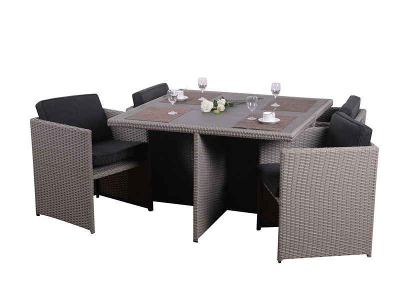 rattan outdoor dining set S2807