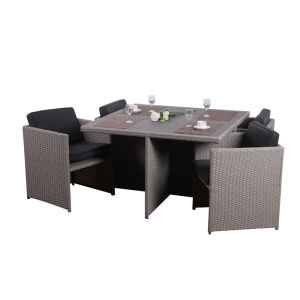 All weather rattan dining set