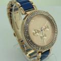 Type de quartz de luxe et montre-bracelet matérielle d'alliage avec imperméable