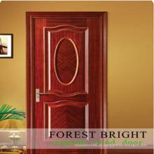 Design de casa clássico levantado moldagem folheada porta Interior
