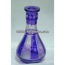 Vidro colorido garrafa vasos do cachimbo de água garrafa shisha garrafa hookab garrafa shisha vidro