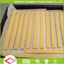 Forro revestido da bandeja do papel de pergaminho do silicone da meia folha de 12X16 polegadas