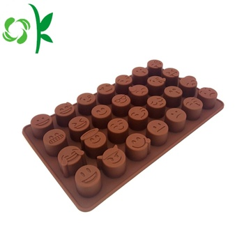 Emoji Chocolate Silikon Backform Kleine Runde Formen