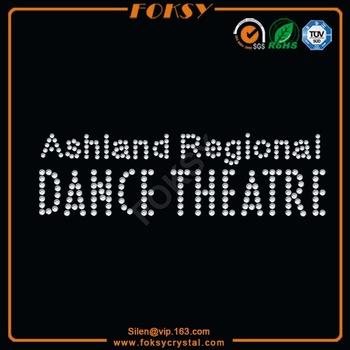 dance rhinestone transfer