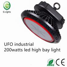 UFO industrial 200watts llevó la luz de la bahía alta