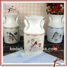 Decoração de vaso de flores de cerâmica