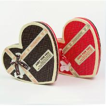 Boîte en chocolat en forme de coeur sur mesure avec diviseur