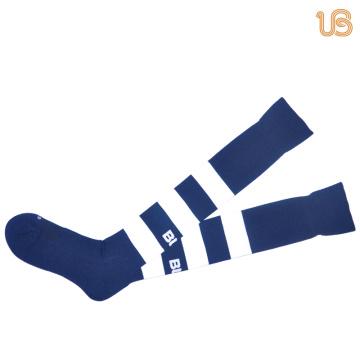 Streifen entworfen Männer Nylon Fußball Socke