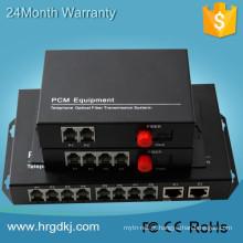 Preço de fábrica 1310 / 1550nm fxo fxs externo 16 canais conversor óptico pcm multiplexador de telefone para conversor de fibra