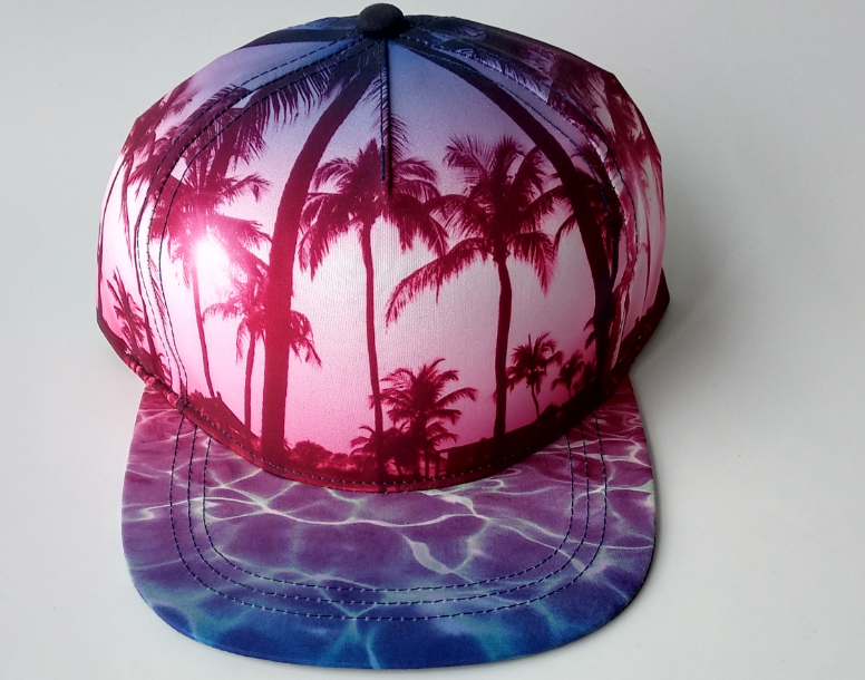 Sublimation Printing Flat Peak Cap Tree