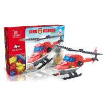Bomberos Serie Designer Bombero Helicóptero Rescate Bloque Juguetes