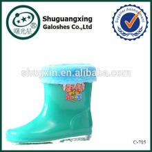 безопасности ПВХ дождь загрузки для дети дождя сапоги фабрика зимние/C-705
