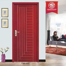 Pvc porte en bois design populaire haute qualité prix bon marché porte intérieure