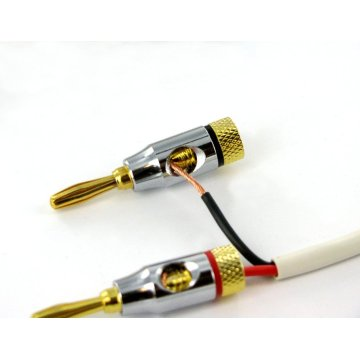 4.0mm Audio steker pisang mutiara nikel shell