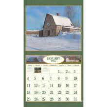 Impression du calendrier mural mensuel du Nouvel An 2015