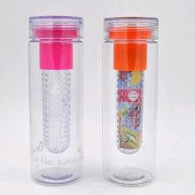 Botella de agua del infuser de la fruta del tritan 25oz, botella de agua plástica BPA libera, botella de agua del tritan