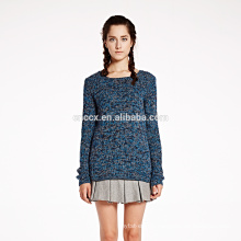 Mixed colour women cashmere pullover