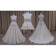 High Quality Lace Applique Chiffon Wedding Dress 2016 New Design