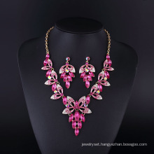 2016 Fashion Design Purple Grace Sharp Necklace Set