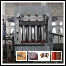 Melamin geformte Tür Haut Heißpresse Maschine