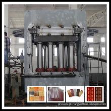 Máquina de prensagem a quente com espessura da porta moldada com melamina