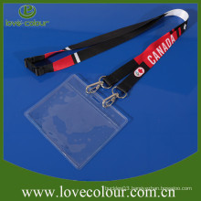 Custom Transparent PVC card holder ID name card