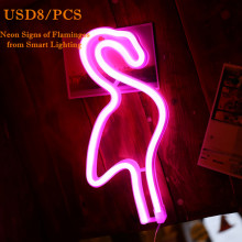 Pink Flamingo Neon Sculpture Light Sign Arte de la pared