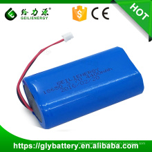 Factory price rechargeble 3.7v 4400mah lithium ion 18650 battery pack li-ion
