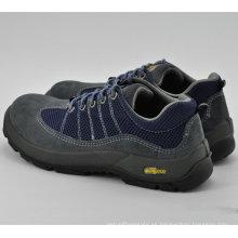 Zapatos de trabajo de seguridad de cuero azul para hombres Ufa103