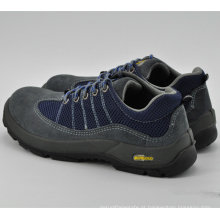Sapatos de trabalho de segurança de homens de couro azul Ufa103