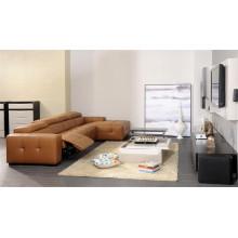 Sofá de salón con sofá moderno de cuero genuino (426)