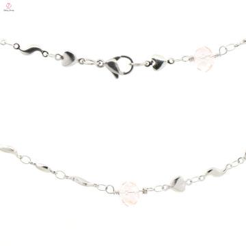 Neues Modell Damen Edelstahl Silber Charme Halskette Kette Großhandel