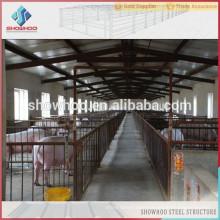 light steel prefabricated pig farm steel steucture building piggery