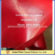 Lona de pvc cubierta material de lona fabricado por Plato
