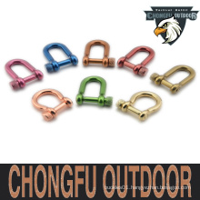 Adjustable ourdoor Shackle for paracord bracelet